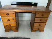 Solid pine dressing table / desk