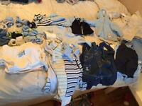 Baby boys clothing 0-3 months over 40 items