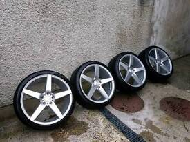 Alloy wheels and tyres for vw.Golf passat jetta,Audi A4 a6,Seat Leon