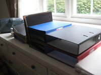 21 LARGE A4 FILES AND NUMEROUS A4 PLASTIC FOLDERS PERFECT STUDENT OR OFFICE