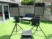 DJ DISCO PA SPEAKER SYSTEM. FULL SET UP inc. 2x AMPLIFIERS