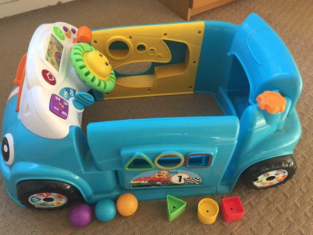 2f08440d5 Fisher price laugh learn crawl around car-blue