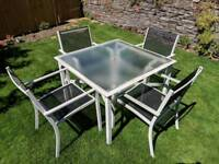 Modern garden table and chairs set