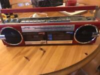 Sharp qt77 vintage retro boom box radio cassette from 70s