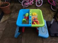 Childrens' water play and sand pit. Great fun, easy to store and long lasting fun