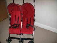 Mamas& Papas twin kato double buggy EXCELLENT COND