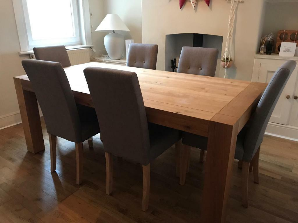 Dining Table And 6 Chairs Exeter