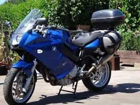 BMW F800ST c/w PANNIERS and TOP BOX