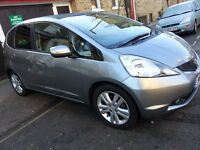 2010 (60 reg) Honda Jazz 1.4 EX Automatic. 5dr Hatchback, Petrol. Silver metallic. Panoramic Roof
