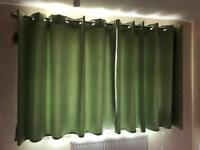 Blackout Eyelet Curtains Lime Green with ties