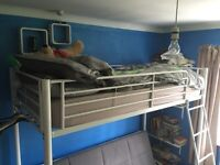 Now £75 White Metal Sofa Bunk Bed from Next Home, with furnishings only 3yrs old was £300 new VGC