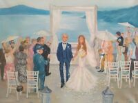 Live Wedding Painter/ Oil Paintings