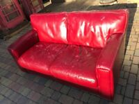 Sofa - FREE RED Leather Sofa