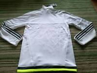 Adidas real Madrid funnel neck Training top size xs to medium brand new with tags