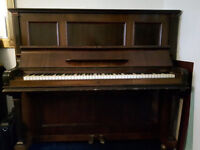 Upright piano, German (A Langer Berlin), iron frame