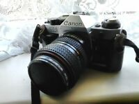canon AE1 plus lenses x3 and other accessories