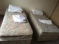 Free two single beds