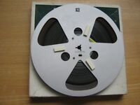 """Used recorded 8 1/4"""" metal reel tape boxed"""