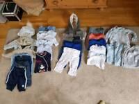 3 bundles of baby boy clothes