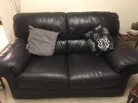 2 x 2 seater genuine Italian leather sofas