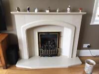 Beautiful Fireplace and gas fire