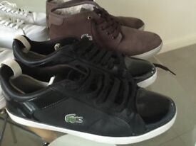Lacoste Mens Trainers - X4 pairs in great condition