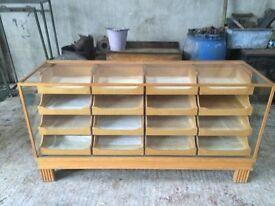 Vintage haberdashery cabinet 16 drawers