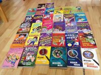 Amazing Bundle of 32 kids books Horrid Henry Captain Underpants Star Wars The Mystery of