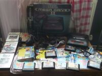 VINTAGE RETRO SEGA MEGA DRIVE 2 BUNDLE & 3D GLASSES & GAME