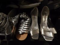 shoes two flat size 6 and one size 9 heels