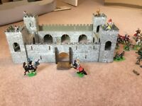 Toy wooden fort and soldiers for sale
