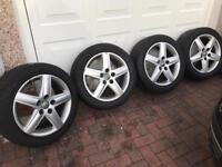 "Audi Alloys / Genuine Audi 17"" alloys with Dunlop tyres"