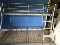 Triple metal bunk bed