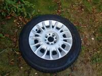 Spare alloy wheel for fiat punto 2003 active sport