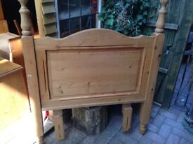 SOLID HANDMADE COUNTRY WAXED PINE SINGLE HEADBOARD GREAT ITEM FREE LOCAL DELIVERY AVAILABLE