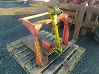 Tractor three point linkage pto driven cork screw log splitter