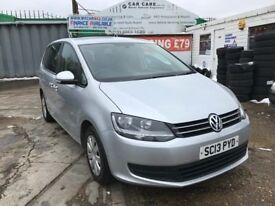 FINANCE £208 PER MONTH, FOR SALE WITH PCO TAXI LICENCE 2013 VW SHARAN BLUEMOTION 7 SEATER, 54K MILES