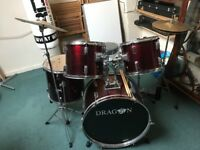 Dragon drum set for sale not bad condition