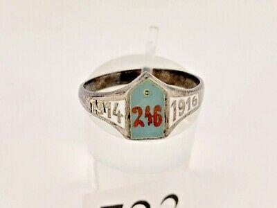 Patriotischer Ring 1914 1916 Regiment 246 Silber 800 1.WK WW Gr. 65-66 Stuttgart