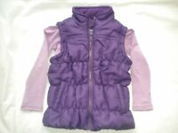 Girls Body Warmer and Long Sleeved T Shirt Set Age 3 - 4 In Very Good Condition