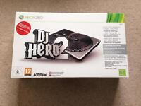 Xbox 360 DJ Hero 2 - turntable controller with game