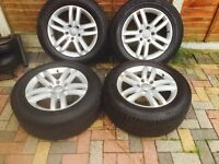 "AUDI Q7 18"" ALLOYS GOOD CONDITION NEW TYRES ALSO FIT VW TOUAREG AND PORSCHE CAYENNE"