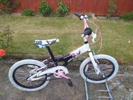 KIDS GIRLS CHILDREN AVIGO 18 INCH WHEELS BIKE BICYCLE