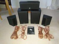 Eltax Millenium Surround Sound Speakers & Speaker Cable