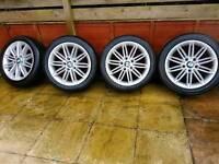 "Bmw 17"" 207 m sport alloy wheels continental tyres"