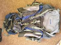 Backpack with the rain cover 85l