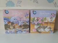 Two cat theme jigsaws