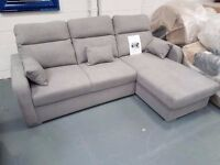Brand New Light Grey Sofa Bed With Storage. Right Hand Sofa. Free Delivery Up To 25 Miles.
