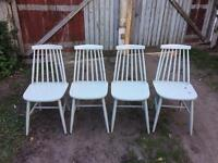 4x spindel dining chairs