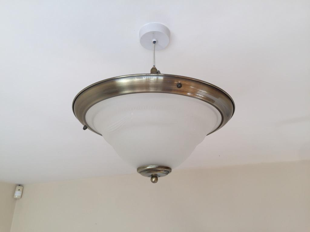 Vintage style glass shaded ceiling light